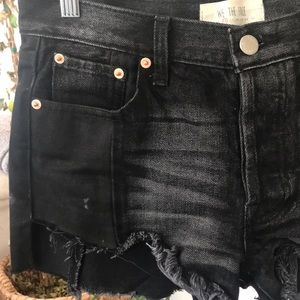 Free People Shorts - Free People- Mid waist black Denim Shorts